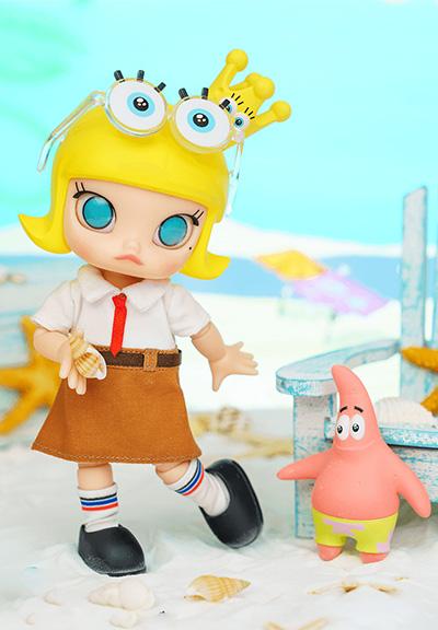 「MOLLY × 海綿寶寶- 海綿寶寶BJD(可動人偶)」 $599