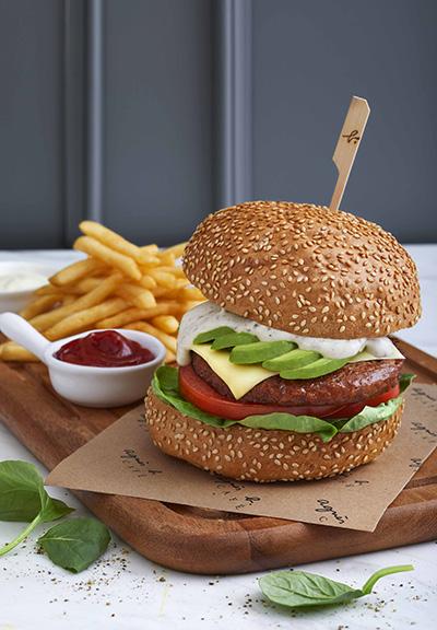 植物肉牛油果芝士漢堡