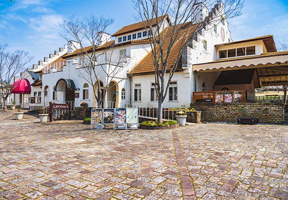 磚砌歐式建築係打卡最佳背景。
