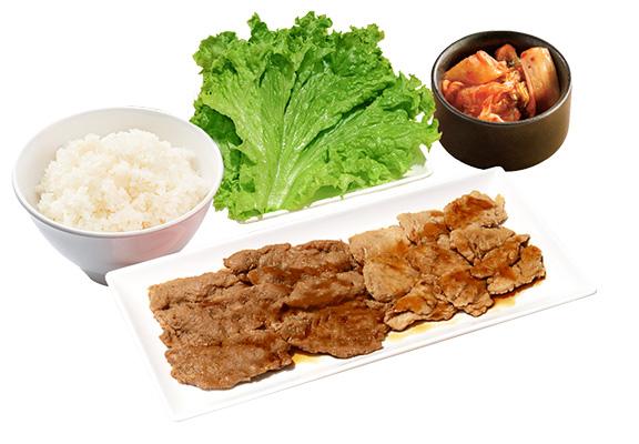 「NEXT 牛五花及NEXT橫膈膜肉套餐」  (100g)配白飯、生菜及迷你沙律或泡菜(非素食)$78