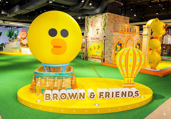 脹卜卜嘅SALLY莎莉造型熱氣球等待大家到來探訪。  ##IMG HERE##