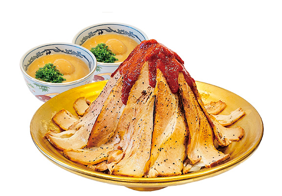 新店期間限定重量級火山極盛豚肉沾汁麵 (2人份量) $188