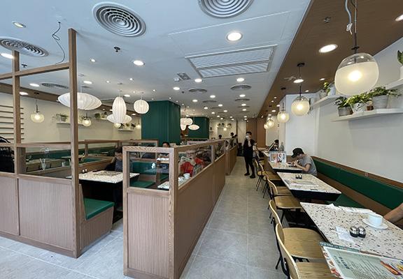 旺角新店裝修設計走北歐簡約風,給人舒適休閒感覺。