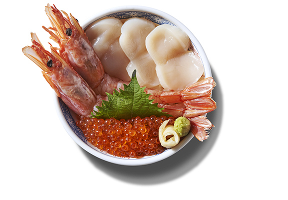 大蝦帆立貝丼 $118