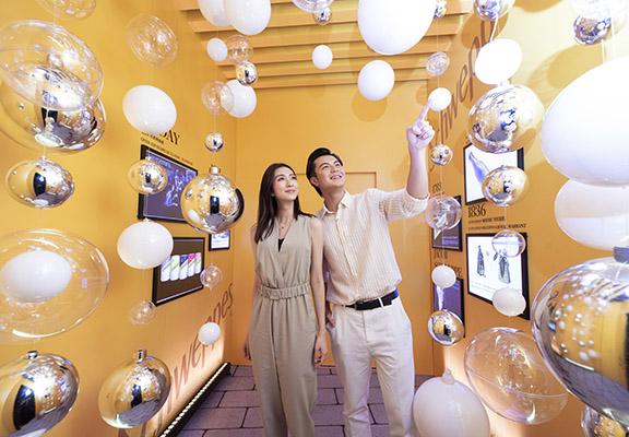 體驗館內設有仿氣泡裝置,讓大家「觸感」氣泡。