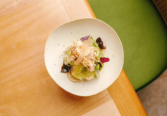 「涼拌萵筍菇絲」 靈感取自涼拌海蜇。