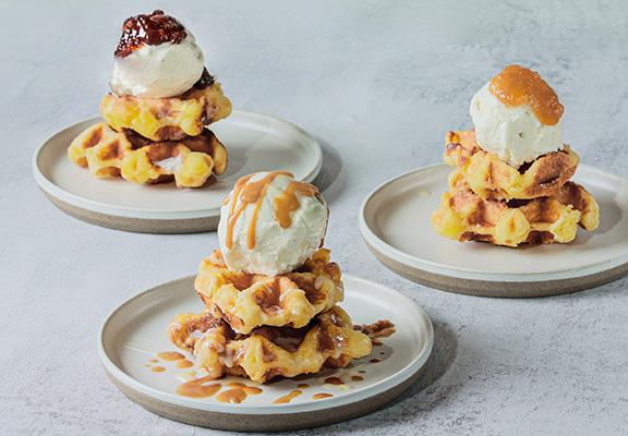JamStory 、The Nutter 及Gelat Etc. 合作推出會場限定Waffle Parfait。