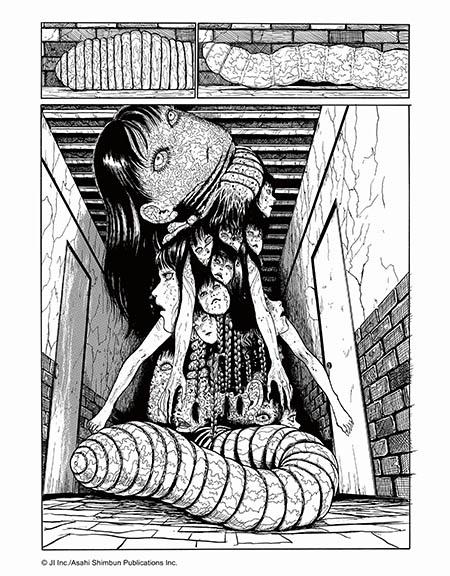 伊藤潤二嘅漫畫展現令人驚艷嘅恐怖美學。